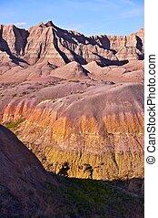 Colorful Badlands Formations
