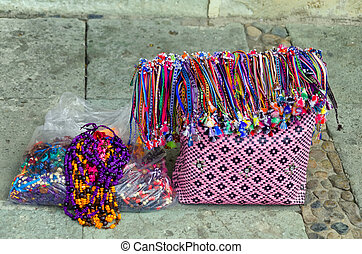 Colorful Bag and Handicraft for Sale in the Street
