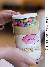 colorful baking mix for cakes