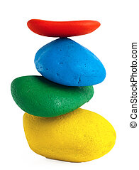Colorful Balancing stones
