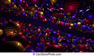 Colorful ball particle animation background
