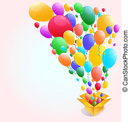 Colorful Balloon Abstract background.