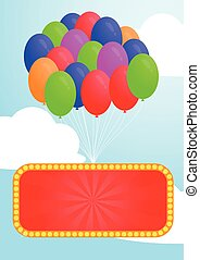 Colorful balloon and Advertising bi