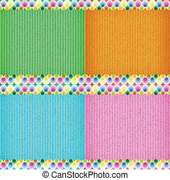 Colorful balloon card board texture