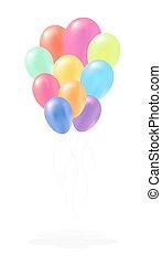 colorful balloon vector