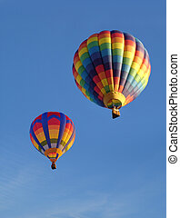 Colorful Balloons Against Blue Sky - Colorful balloons...