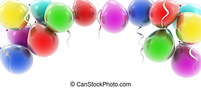 colorful balloons as a background 3d illustration
