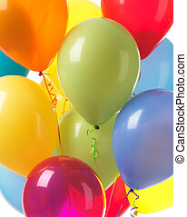 Colorful balloons background - Colorful helium balloons ...