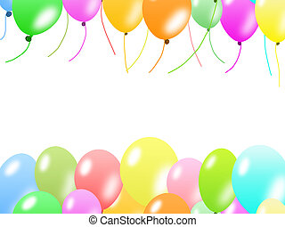Colorful balloons border