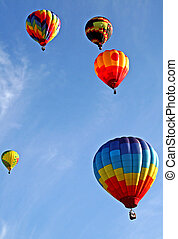 Colorful Balloons - colorful balloons are flying in the sky