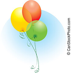 Colorful Balloons, editable vector illustration