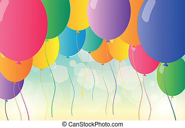 Colorful balloons for a party