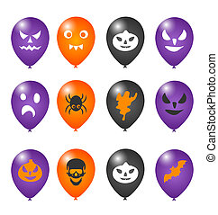 Colorful balloons for Halloween party