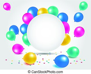 Colorful balloons for happy birthday celebration