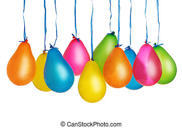 Colorful balloons - Group of colorful balloons isolated on ...