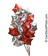 colorful balloons in form of star isolated