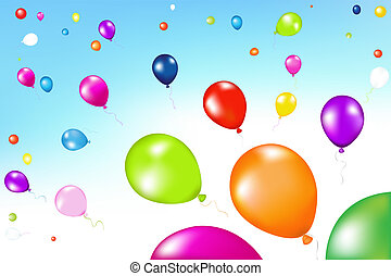 Colorful Balloons In The Air