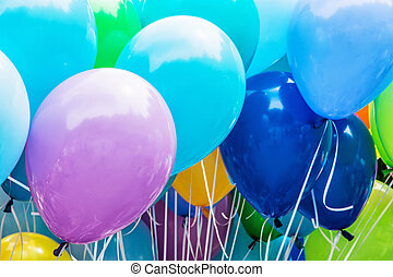 Colorful balloons, leisure activity - Balloons party. Funny...
