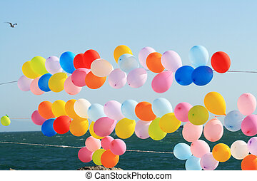 Colorful Balloons - Lots of colorful balloons on background ...