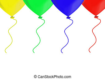 Colorful balloons, objects isolated, balloon series, ...