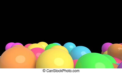 Colorful balloons on black 4k