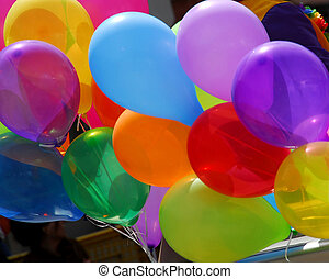 Colorful balloons - Bunch of colorful balloons