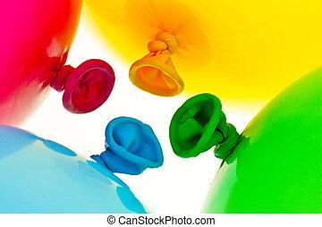 Colorful balloons. Symbol of lightness, freedom, celebration...