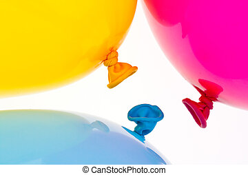 Colorful balloons. Symbol of lightness, freedom, celebration