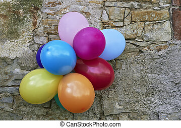 Colorful balloons - View of several colorful balloons to ...