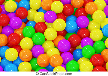 Colorful balls background, 3D rendering