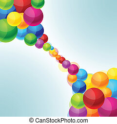 Colorful balls background.