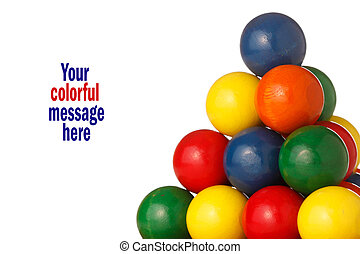 colorful balls form a pyramid
