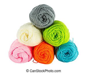 colorful balls of knitting yarn