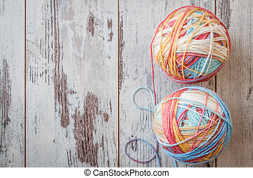 Colorful Balls of Yarn - Colorful balls of yarn for knitting...