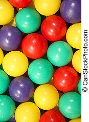 Colorful balls.