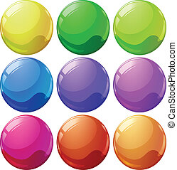 Colorful balls - Illustration of the colorful balls on a...