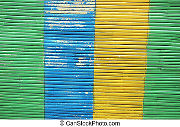 colorful bamboo curtain