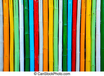 Colorful bamboo.