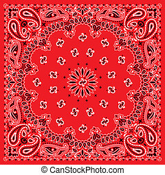3 colors bandana. You can easily change the background color in the vector file. No transparency and gradients used.