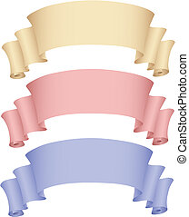 colorful banners - vector illustration of 3 banners isolated...