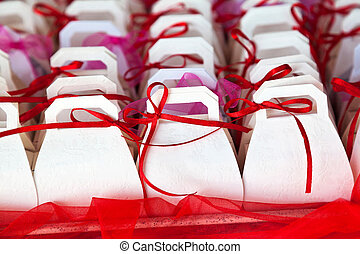 Colorful baptism favors given in baptisms