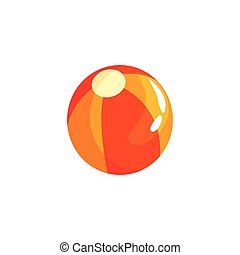 Colorful beach ball in flat style