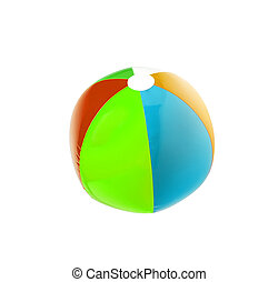 Colorful beach ball isolated on white background