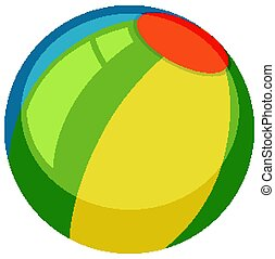 Colorful beach ball on white background