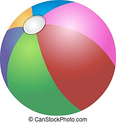 Colorful beach ball - Vector colorful beach ball
