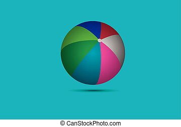 Colorful beach ball vector illustration EPS 10