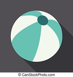 Colorful beach ball vector illustration.