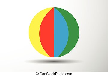 Colorful beach ball vector illustration
