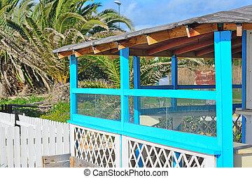 beach bar on a sunny day