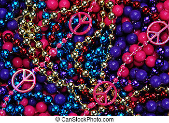 colorful beads as an Abstract background texture
